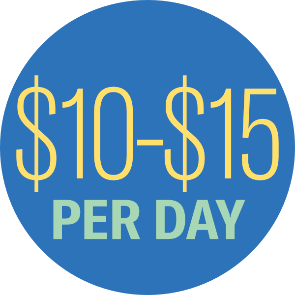 $10-$15 per Day