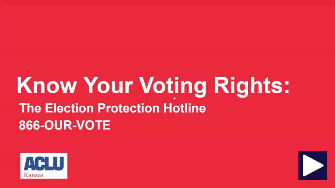 Know Your Voting Rights Election Protection