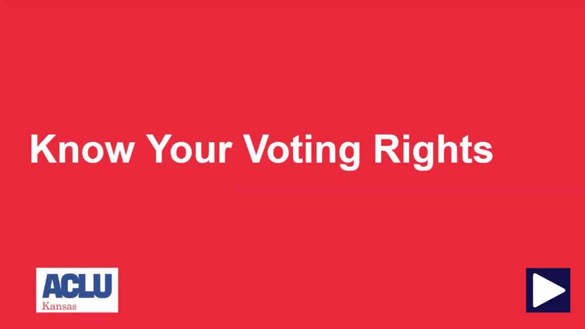 Know Your Voting Rights (KYVR) Training