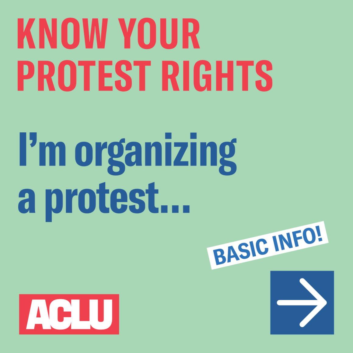 I'm organizing a protest