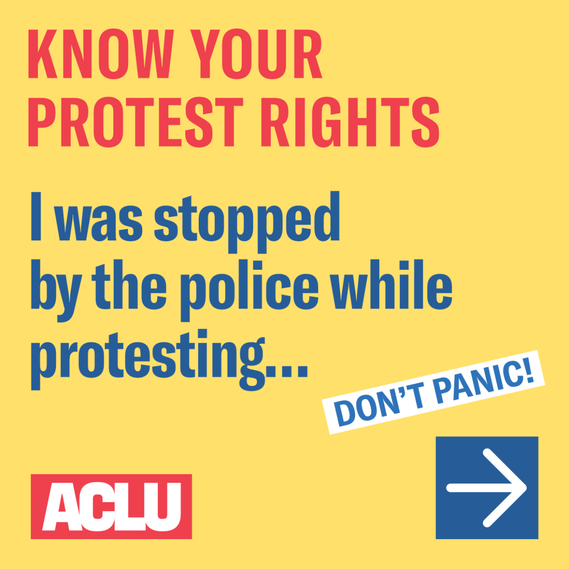 I was stopped by the police while protesting