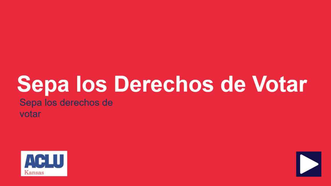 Sepa los Derechos de Voter Video