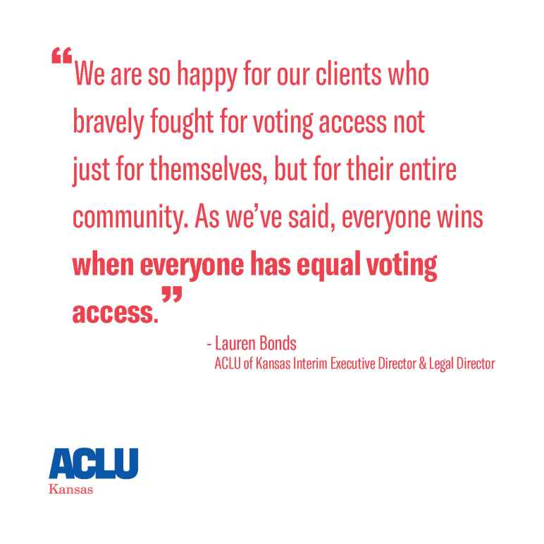 Everyone wins when everyone has equal voting access.