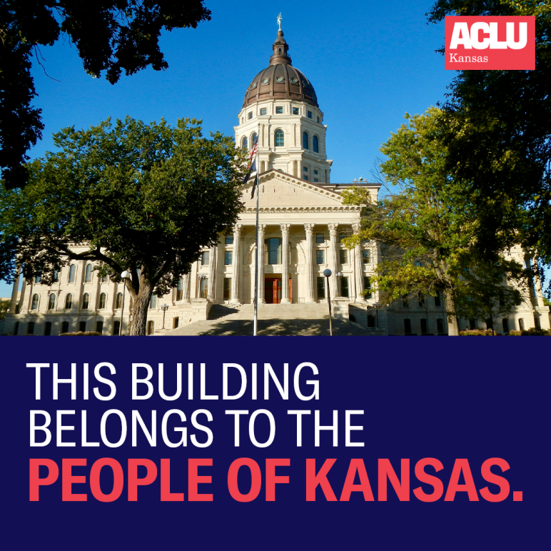 The Kansas state capitol building belongs to the people.