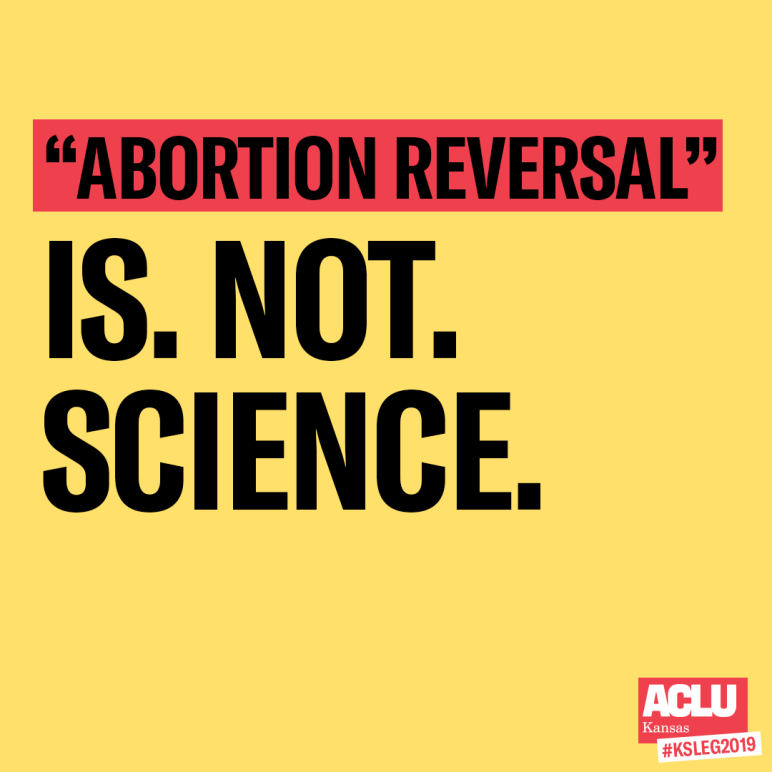 abortion reversal is not science