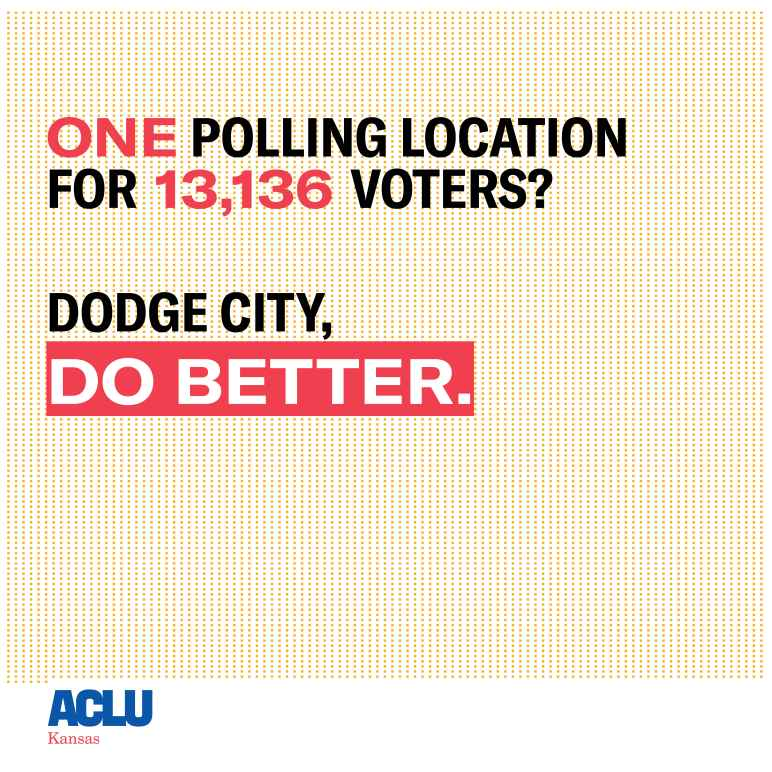 13,136 for one polling site in Dodge City