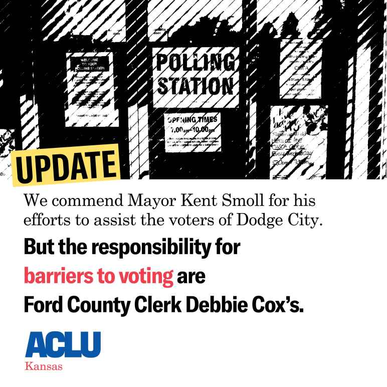 We commend Mayor Smoll- but the responsibility is Ford County Clerk Debbie Cox's.