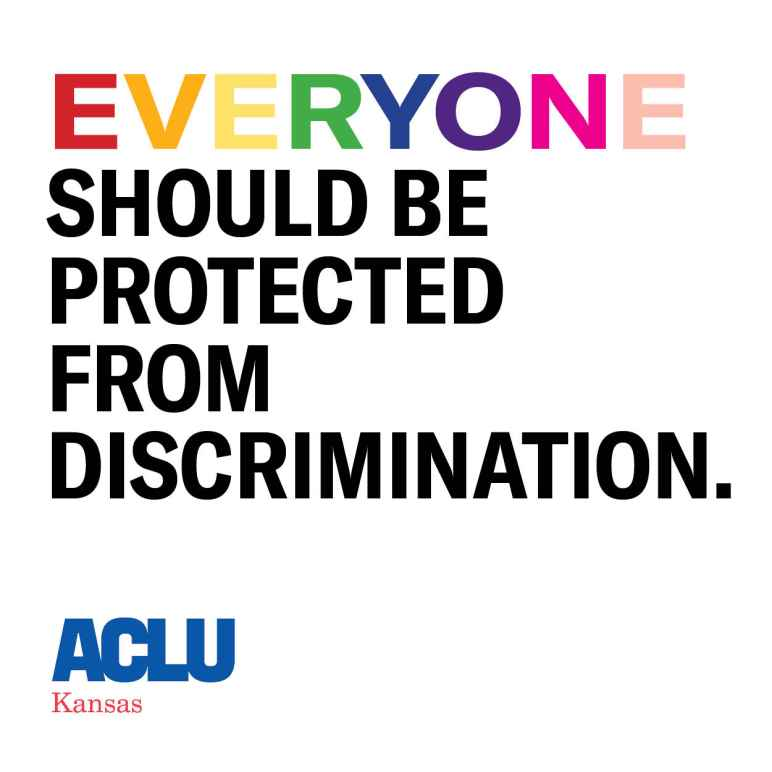 EVERYONE SHOULD BE PROTECTED FROM DISCRIMINATION
