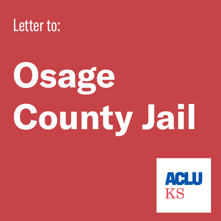 Letter to: Osage County Jail