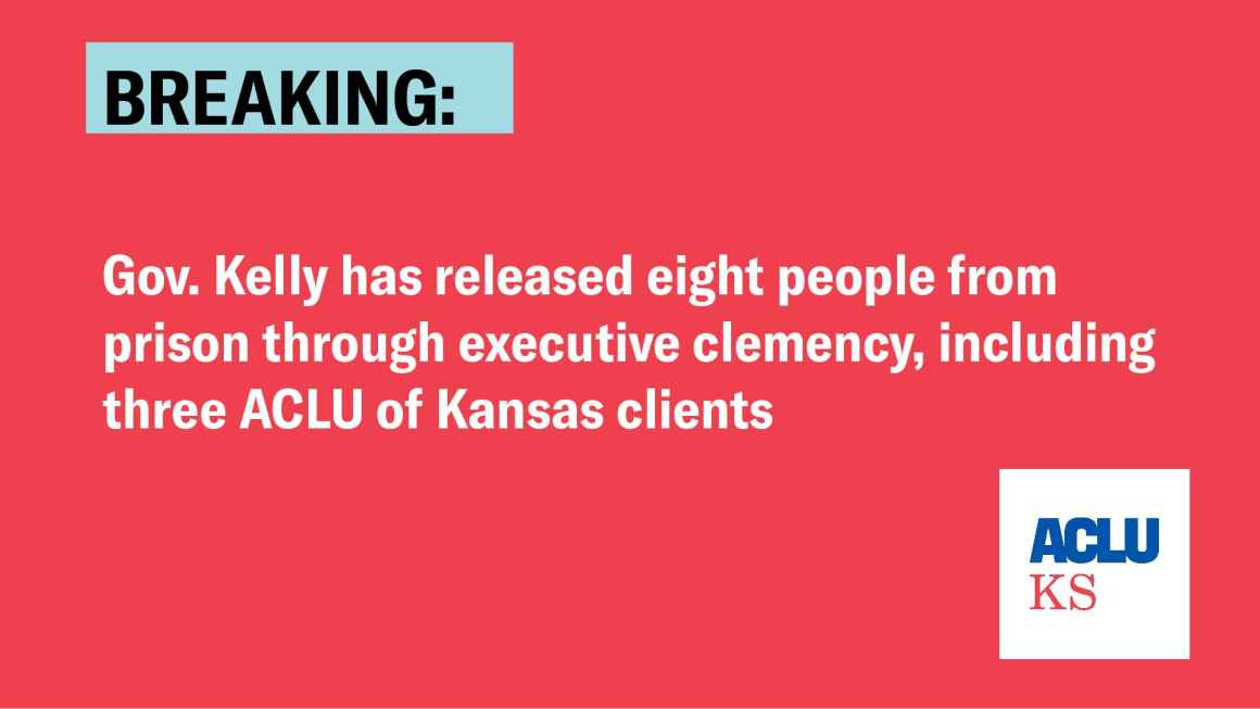 BREAKING: Gov Kelly has released eight people from prison through executive clemency