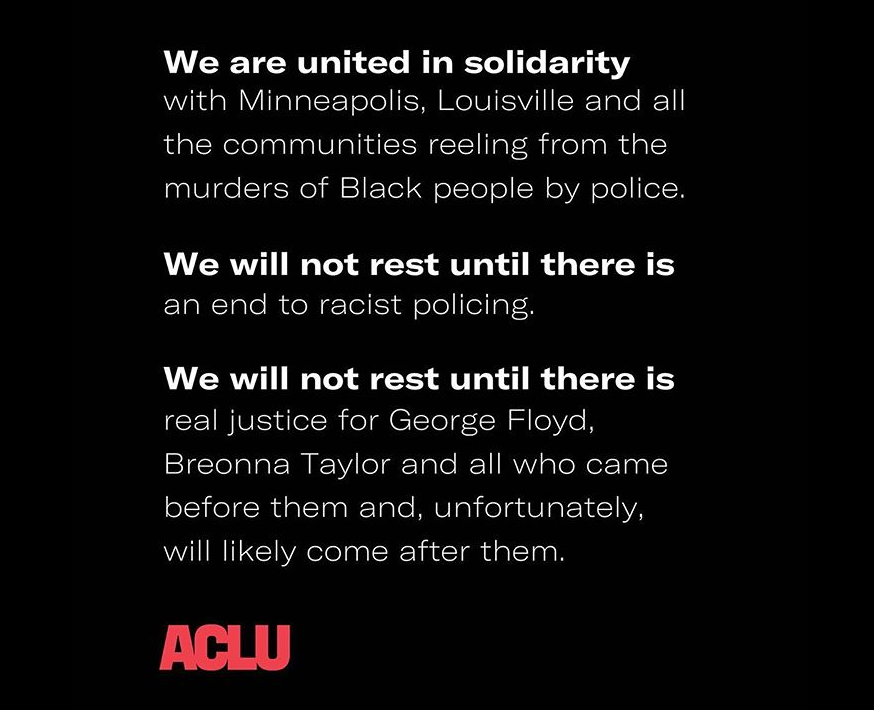 We will not rest until there is an end to racist policing.